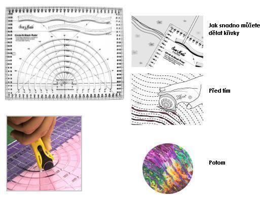 Pravítko pro řezání křivek (cm)
