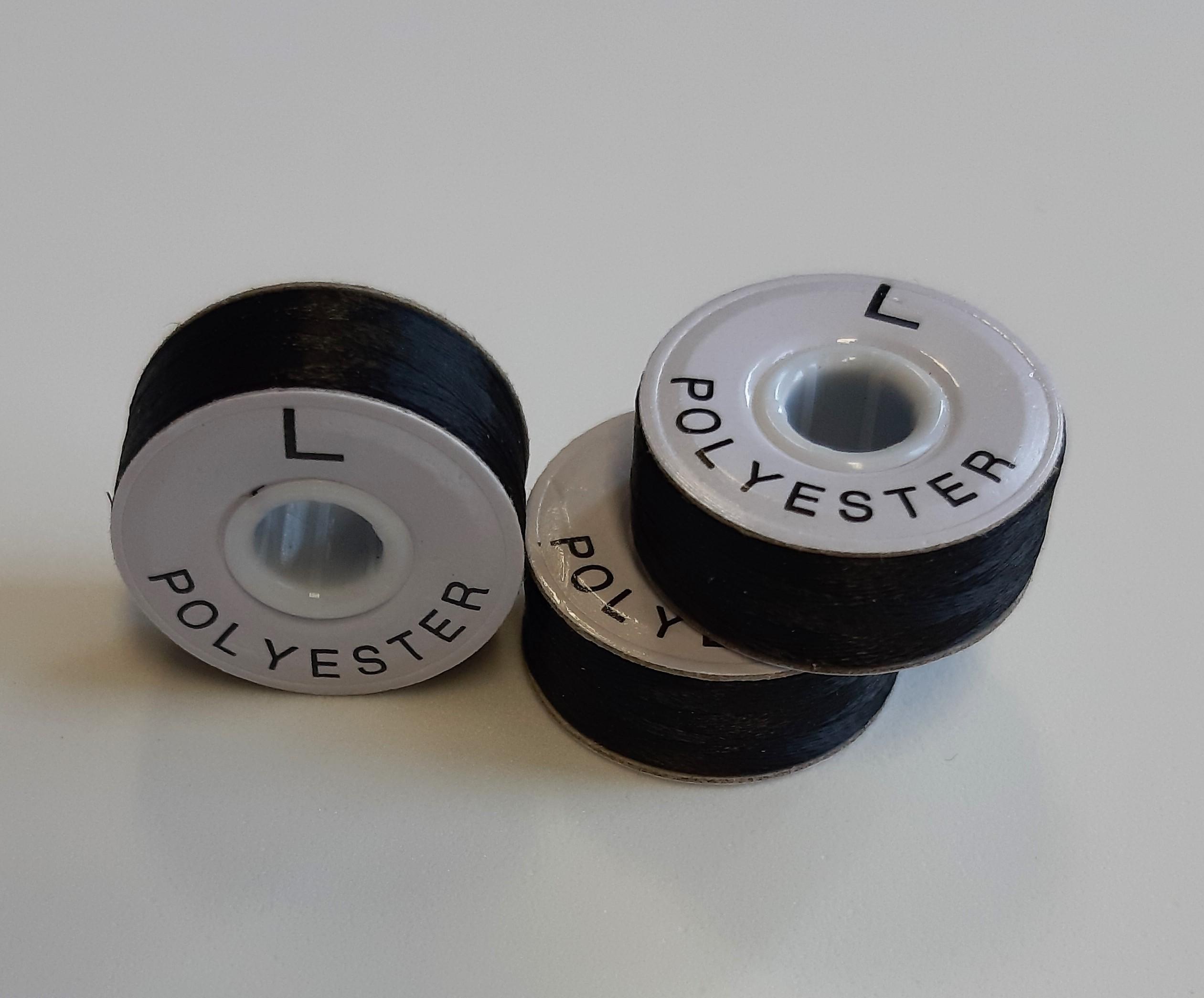 LNS-113B nit předvinutá polyester černá s kartonovým bokem, 75D/2