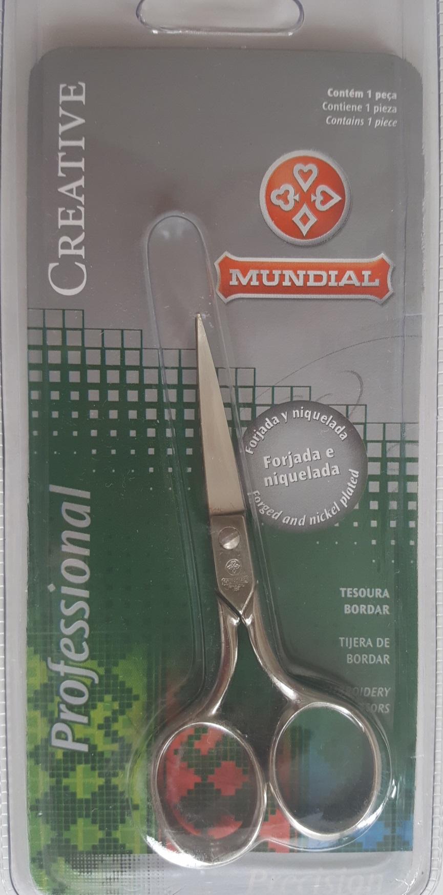 Nůžky Mundial 427-4 zahnuté na vyšívání
